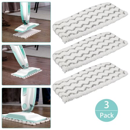 Washable Cleaning Steam Mop Pads Replacement for Shark Vacuum Cleaner S1000 S1000A S1000C S1000WM S1001C (Pack of 3)