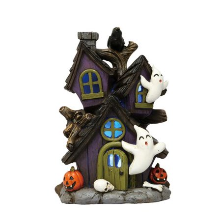 The Holiday Aisle Ralph Mini Resin Light Up Haunted Ghost House