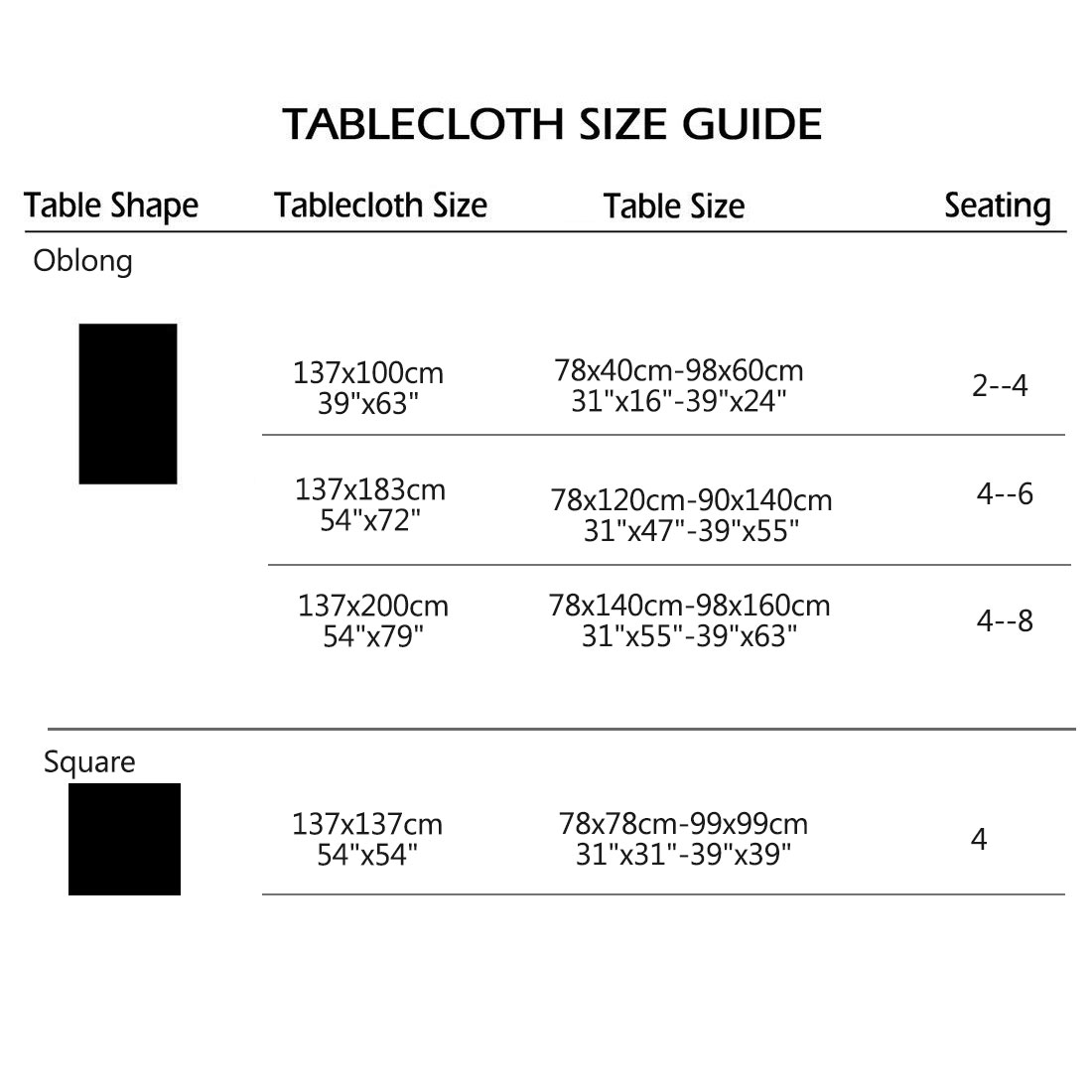 """Tablecloth PVC Vinyl Oil Stain Resistant Party Camping Table Cloth 54""""x54"""", #1 - image 3 de 7"""