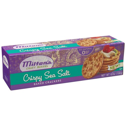 Milton's Crispy Sea Salt Baked Crackers, 6.7 oz