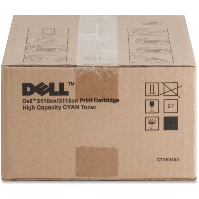 Dell High Yield Cyan Toner Cartridge (OEM# 310-8094 310-8397) (8,000 Yield) by Dell