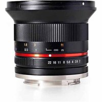 Rokinon 12mm F2.0 Ultra Wide Angle Camera Lens for Micro Four Thirds Mount, Blac