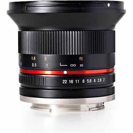 Rokinon 12mm F2.0 Ultra Wide Angle Camera Lens for Micro Four Thirds Mount, Blac 12mm Lens Bullet Housing
