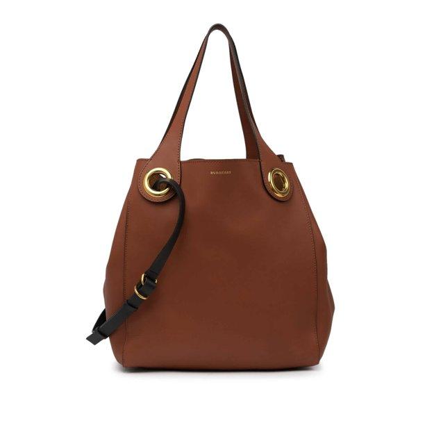 Burberry Tan Medium Grommet Shoulder Bag