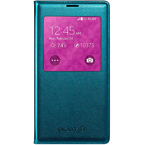 Samsung Galaxy S5 Case S View Flip Cover Folio, Green