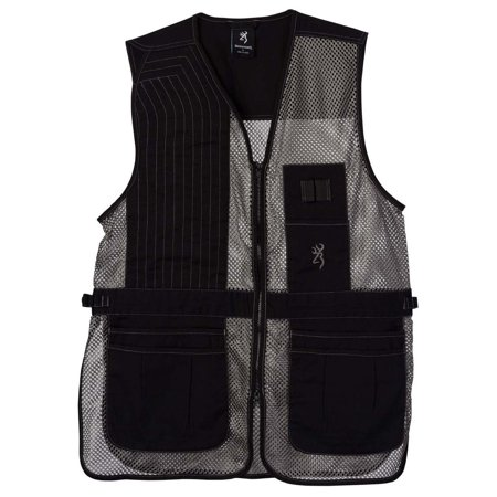Browning, Trapper Creek Mesh Shooting Vest, Black/Gray, X-Large, Left Hand (Trappers 30 Mesh)