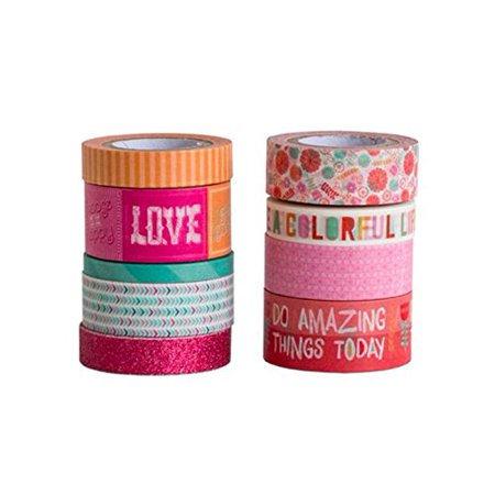 Washi Floral and Decorative Tape Set by Recollections - Floral Washi Tape