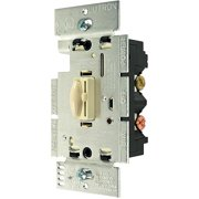 Lutron Qoto 600-Watt Single-Pole Dimmer & Switch, Ivory