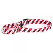 yellow dog design martingale pet collar, x-small, black and red argyle
