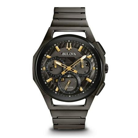 aaa3ff875 Bulova - 98A206 Curv Men's Watch Dark Grey IP 44mm Dark Grey IP ...