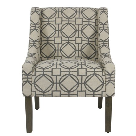 HomePop Modern Swoop Accent Chair, Multiple Colors