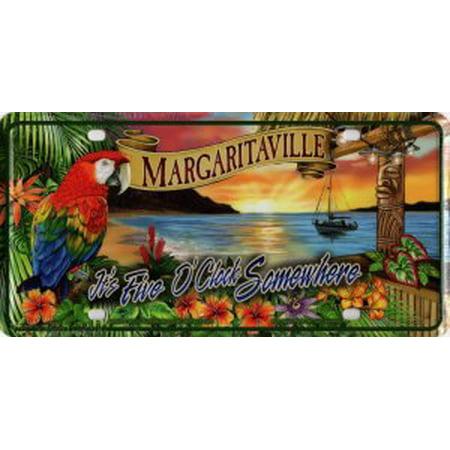 It's Five O'Clock Margaritaville Sunset License Plate (Scrapbook License Plate)