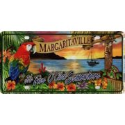 It's Five O'Clock Margaritaville Sunset License Plate