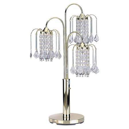 Polished Brass Spotlight (ORE International Table Lamp with Crystal-Like Shades, Polished Brass)