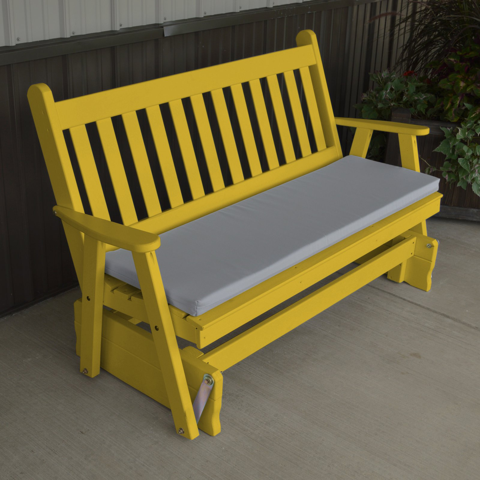 Superbe A U0026 L Furniture Yellow Pine Traditional English Outdoor Bench Glider