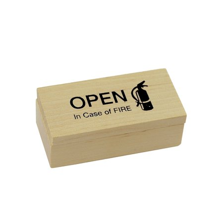 Open In Case Of Fire Surprise Box Gag Gift Practical Joke Office Prank Toy Trick