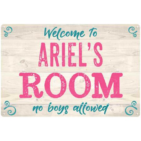 Kids Personalized Sign - ARIEL'S Room Kids Bedroom Sign Personalized 8x12 Metal Sign 108120089142