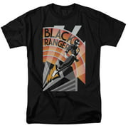 Mighty Morphin Power Rangers Black Ranger Deco Mens Short Sleeve Shirt