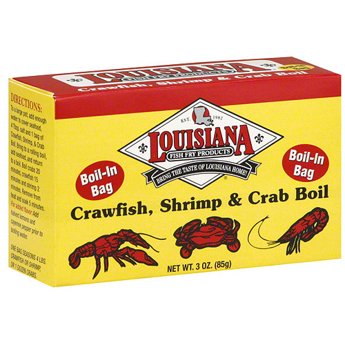 Louisiana Fish Fry Products Crawfish, Shrimp & Crab Boil, 3 oz (Pack of 12)