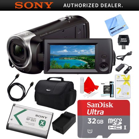 Sony HDRCX405 HDR-CX405 CX405 Video Recording Handycam Camcorder Bundle With Deluxe Bag, 32GB MicroSDHC Memory Card, AC/DC Charger, HDMI Cable, Battery Pack, and (Best Sony Camcorder For Low Light)
