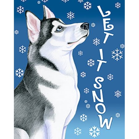 Siberian Husky Grey - Best of Breed Let It Snow Garden