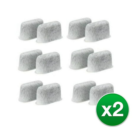 Cuisinart Coffee Replacement - Cuisinart DCC-RWF12 (2-Pack) Replacement Charcoal Water Filter for Coffee machine