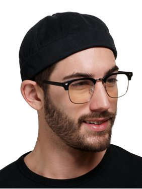 Brimless Docker Cap Hats with Adjustable Strap | Retro No Visor Cap