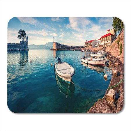 KDAGR Colorful Spring View of The Nafpaktos Port Fantastic Morning Mousepad Mouse Pad Mouse Mat 9x10 inch