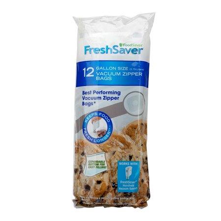 FoodSaver FreshSaver 1-Gallon Vacuum Zipper Bags (12 Count) ()