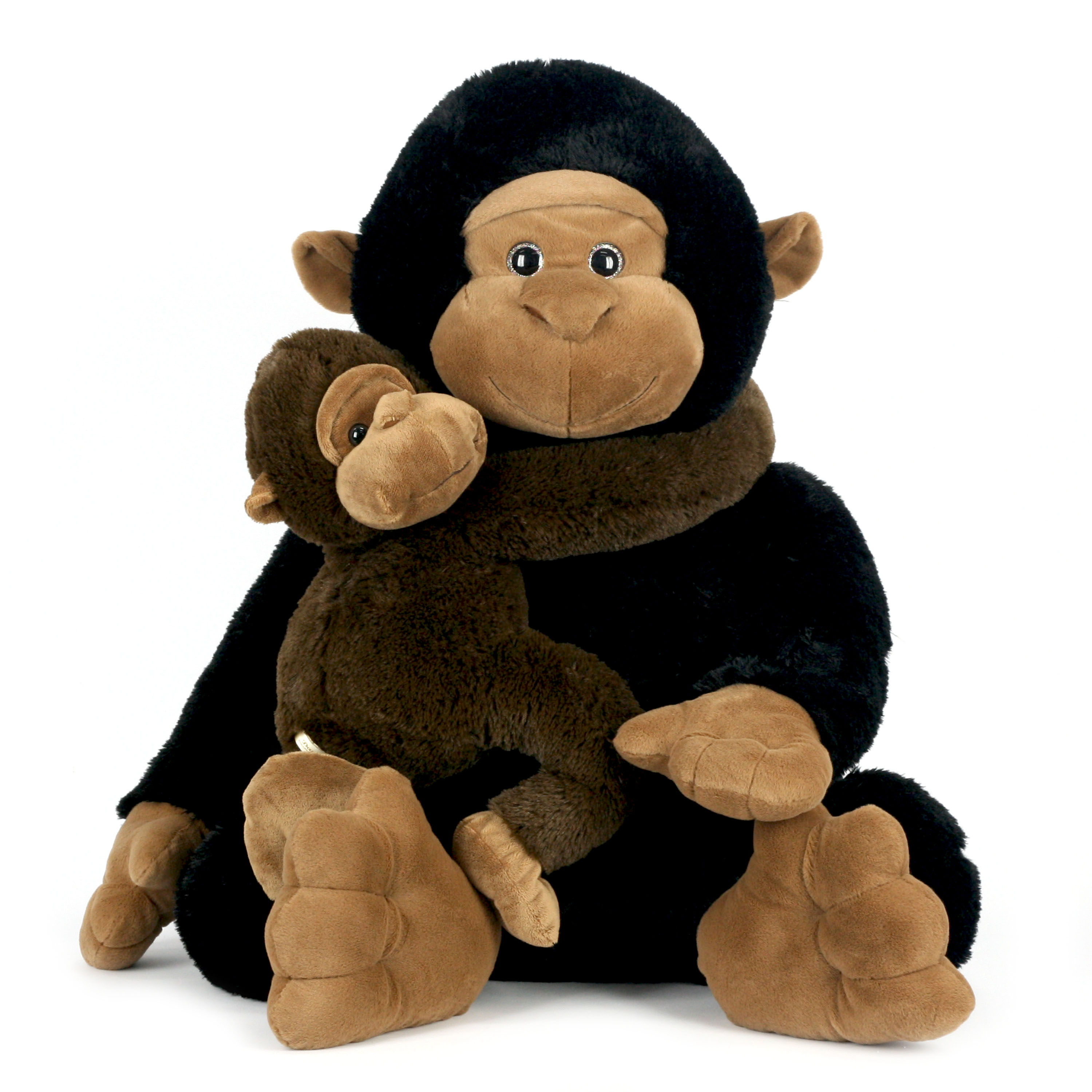 """Way To Celebrate 28 Inch Momma and Baby Valentines Plush Toy – Gorilla   """