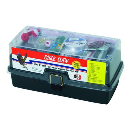 Eagle Claw Go Fish Extreme Tackle Box Kit (Ready 2 Fish Tackle Box)