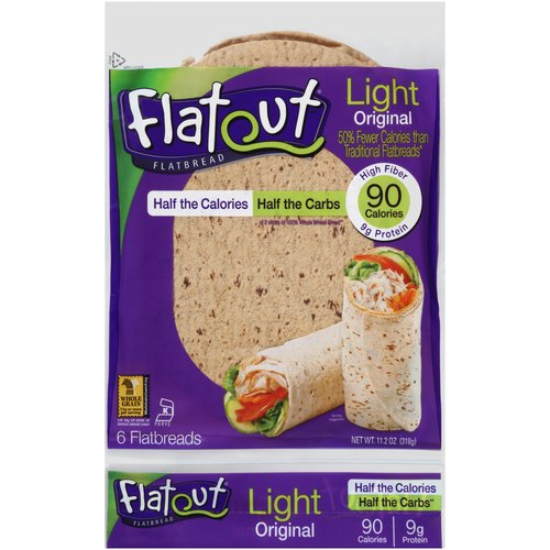 Flat Out: Light Original Flatbread Wraps, 6 ct