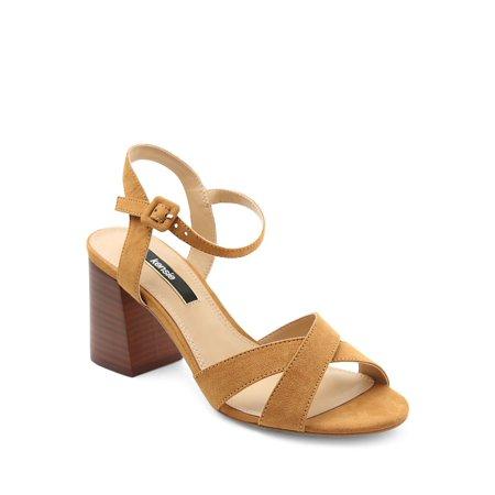 82176135b4 Kensie - Exalia Crisscross Block Heel Sandals - Walmart.com