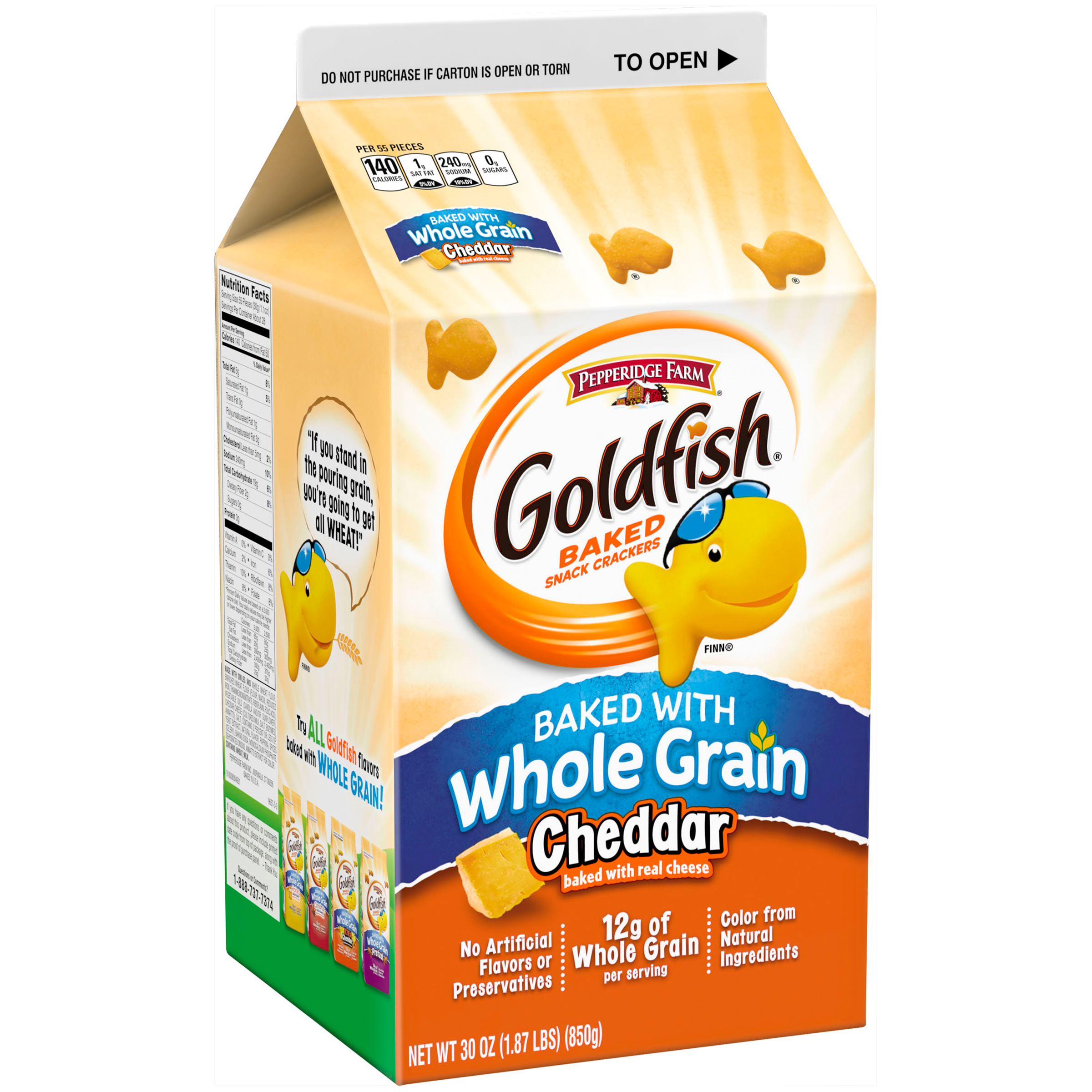 Pepperidge Farm® Goldfish® Whole Grain Cheddar Baked Snack Crackers 30 oz. Box