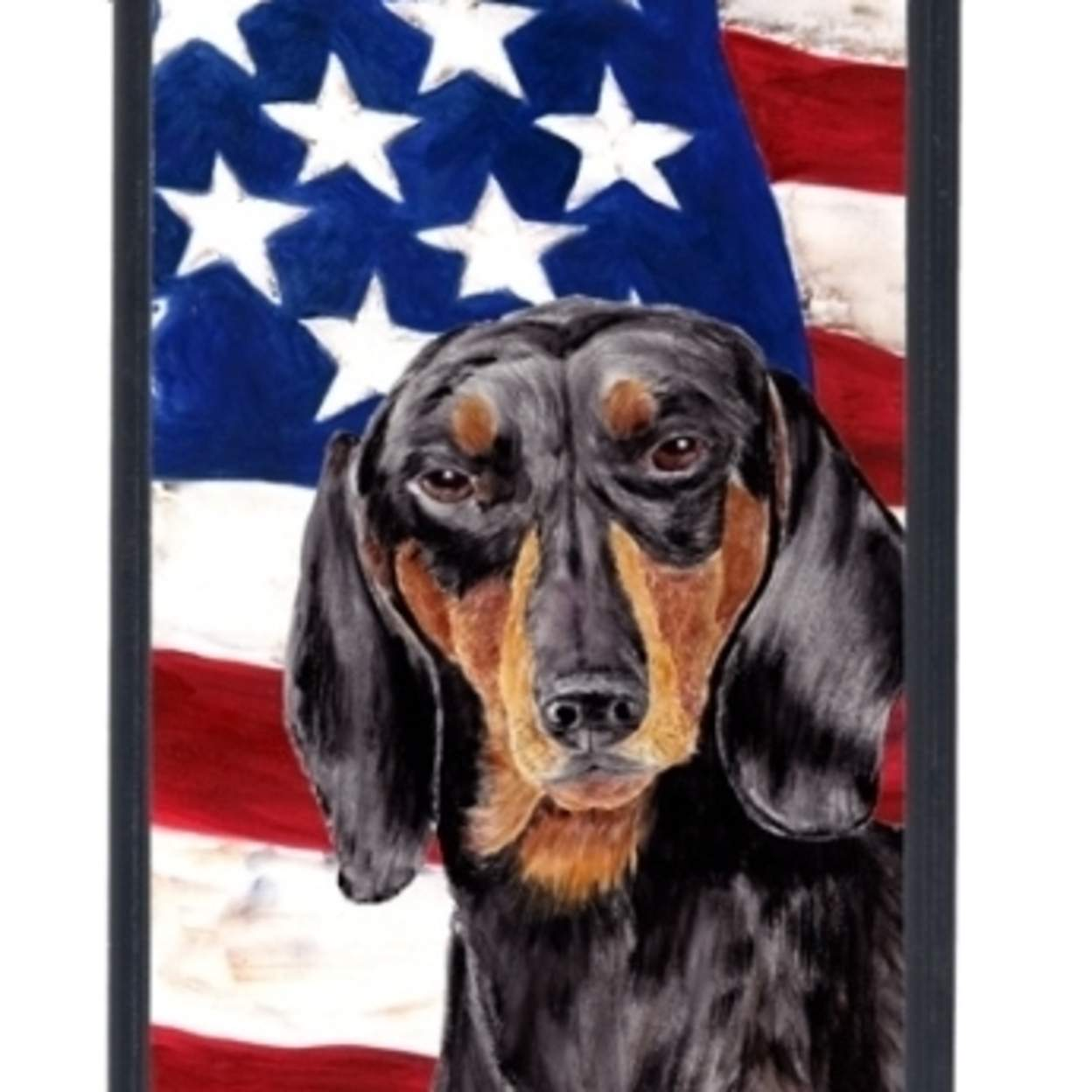 USA American Flag with Dachshund  Cell Phone Cover IPHONE 5C