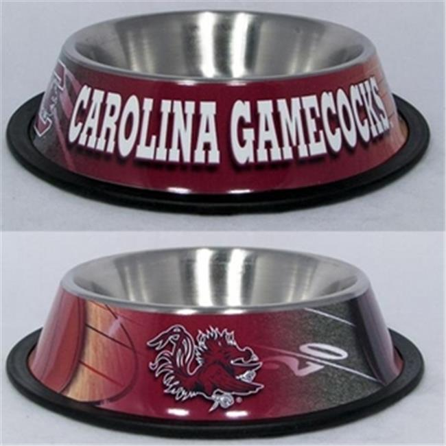 DoggieNation 716298576973 One Size South Carolina Gamecocks Dog Bowl - Stainless