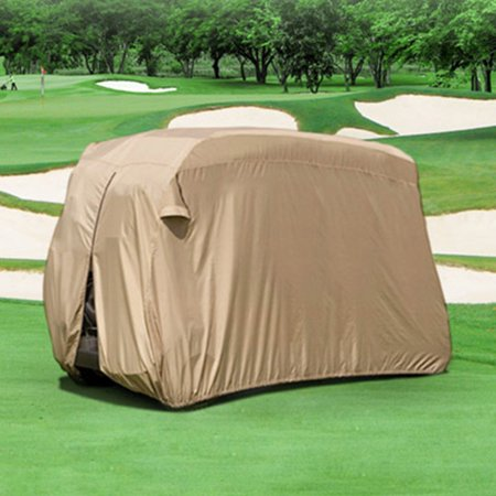 Halloween North East Mall (north east harbor waterproof superior beige golf cart cover covers club car, ezgo, yamaha, fits most four-person golf)