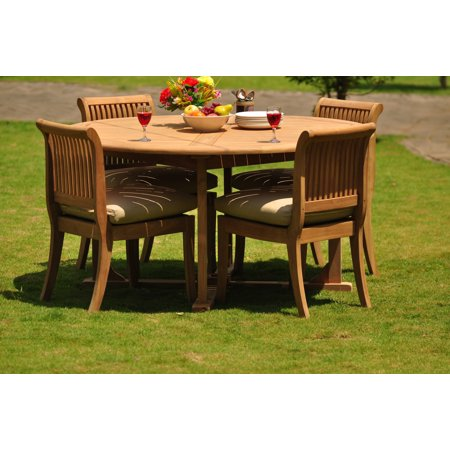 (Teak Dining Set: 4 Seater 5 Pc: 60