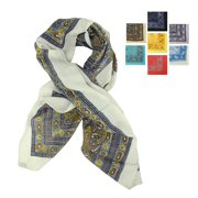 """Pack of 6 Women's Contemporary Colorful Stylish Large Fashion Scarf Shawls 41"""" x 41"""""""