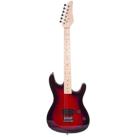 directly cheap full size electric guitar with carrying case and accessories 39 red burst. Black Bedroom Furniture Sets. Home Design Ideas