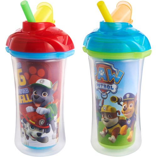 straw sippy cups munchkin click lock insulated straw sippy cup paw patrol 30700