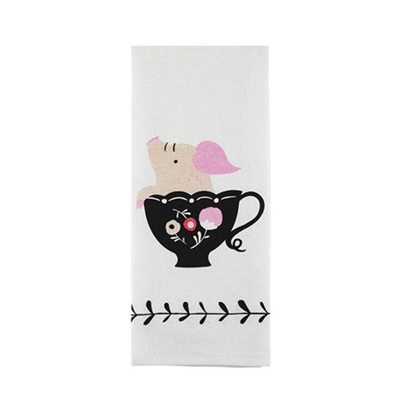 Teacup Pig Tea Towel