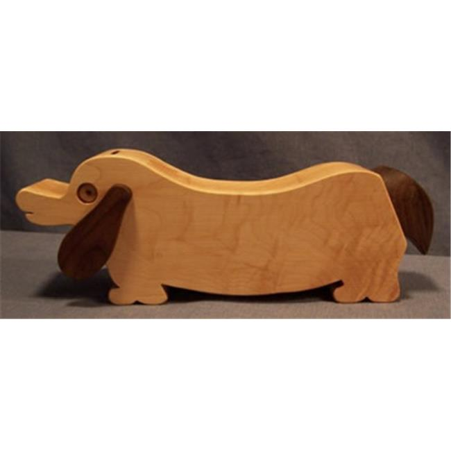 THE PUZZLE-MAN TOYS W-1802 Wooden Bank - Dachshund