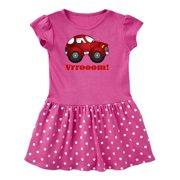 Red Vroom Racer Car Toddler Dress