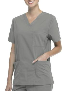 Scrub Star Unisex V-Neck Scrub Top with Front Pockets