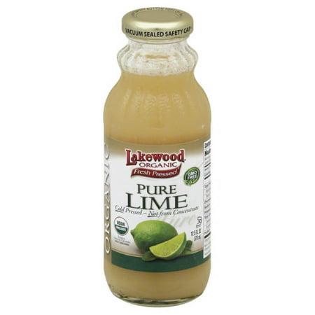 Lakewood Organic Pure Lime, 12.5 Fo (Pack of 12) Organic Pure Life