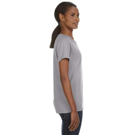 Anvil Women's Midweight Bottom Hem T-Shirt
