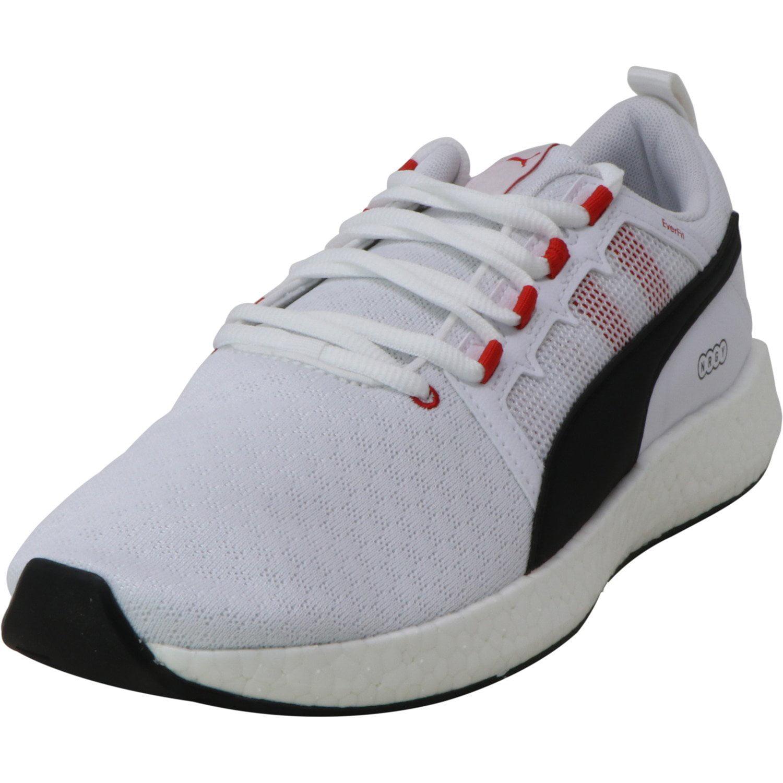 PUMA Puma Men's Nrgy Neko Turbo White Black High Risk Red Ankle High Running 9.5M