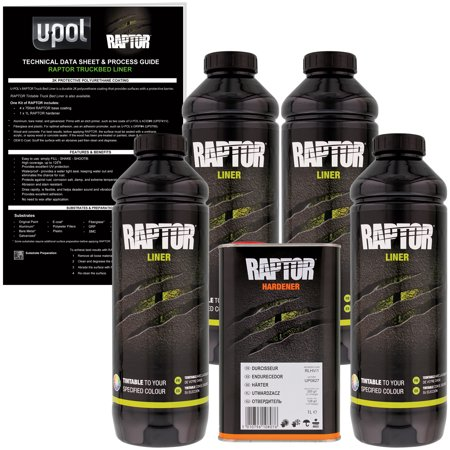 Raptor Tintable Urethane Spray-On Truck Bed Liner & Texture Coating, 4 Liters