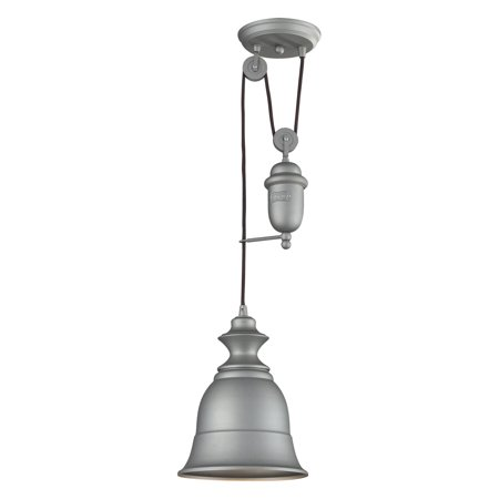 ELK Lighting Farmhouse 65080-1 Pendant - 8W in. - Aged Pewter Aged Pewter One Light
